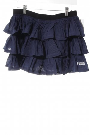 Superdry Stufenrock dunkelblau-schwarz Casual-Look