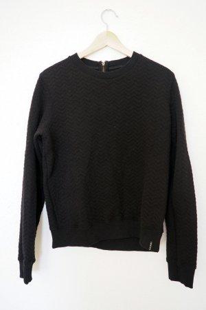 Superdry Sweater mit Fischgrätenmuster, schwarz (S/M), Kollektion 2016