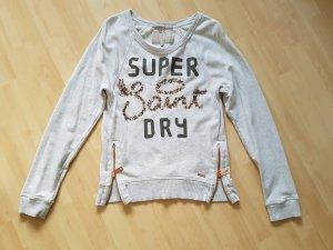 Superdry Sweater Pullover in Grau Glitzer Gr S
