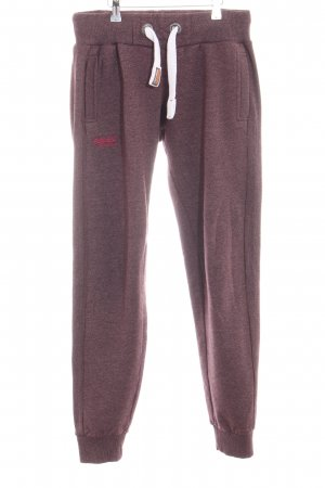 Superdry Sweat Pants pink flecked casual look