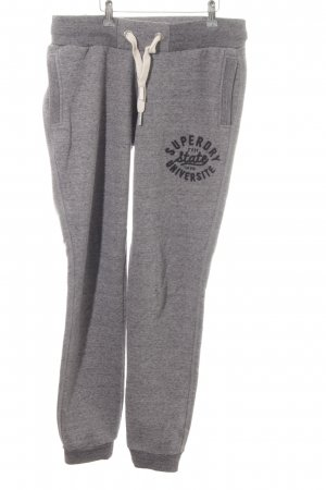 Superdry Pantalone fitness grigio stile casual