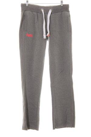 Superdry Sweat Pants grey weave pattern casual look
