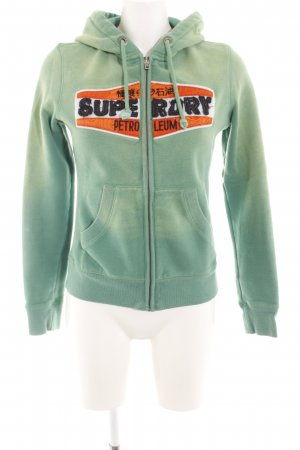 Superdry Sweatjacke grün Casual-Look
