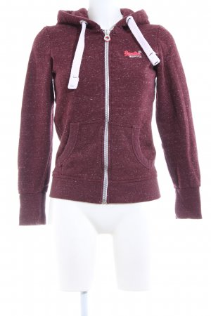 Superdry Sweat Jacket red flecked casual look