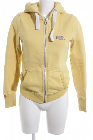 Superdry Sweatjacke blassgelb Casual-Look