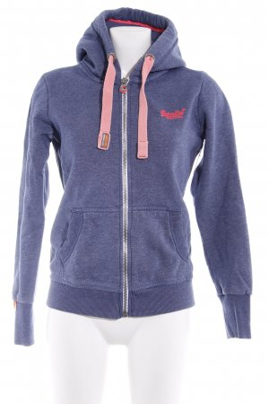 Superdry Sweatjacke blau meliert Casual-Look