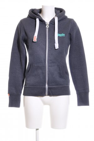 Superdry Giacca fitness blu puntinato stile atletico