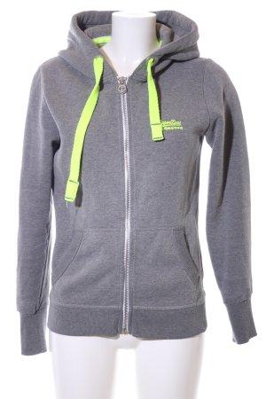 Superdry Sweat Jacket light grey flecked casual look
