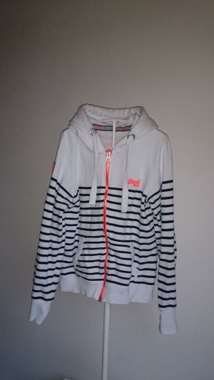 Superdry Sweatjack wit-zwart