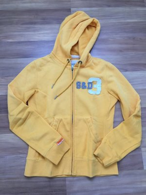 Superdry Sweat Jacket yellow-grey