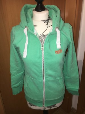 Superdry Sweatjacke grün / mint Gr. S