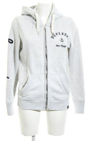 Superdry Giacca fitness grigio chiaro stile casual