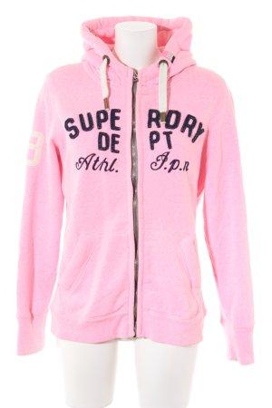 Superdry Veste sweat rose fluo style décontracté