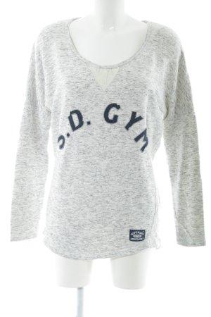 Superdry Sweatshirt gris clair imprimé allover style décontracté