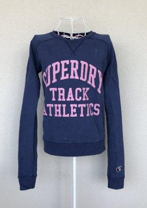 Superdry Sweatshirt blau/pink  Gr. S