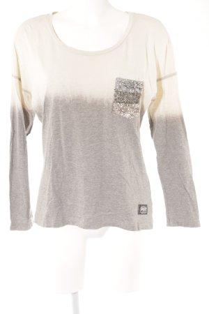 Superdry Sweatshirt creme-hellgrau Farbverlauf schlichter Stil
