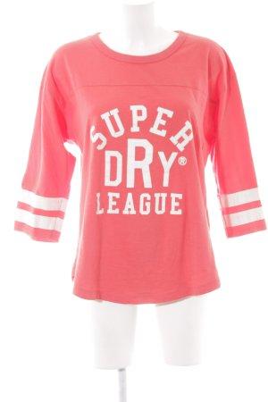 Superdry Sweatshirt dunkelorange Schriftzug gedruckt sportlicher Stil