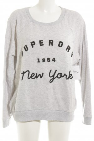 Superdry Sweatshirt hellgrau Casual-Look