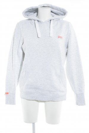 Superdry Sweat Shirt light grey-white color gradient athletic style
