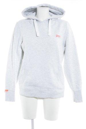 Superdry Sweatshirt hellgrau-weiß Farbverlauf sportlicher Stil