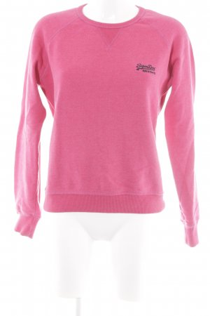 Superdry Sweatshirt magenta-schwarz Casual-Look