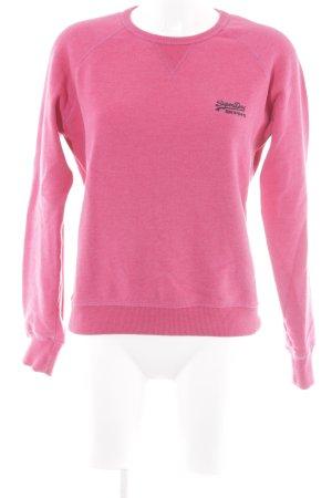 Superdry Sweatshirt magenta-schwarz Casual-Look