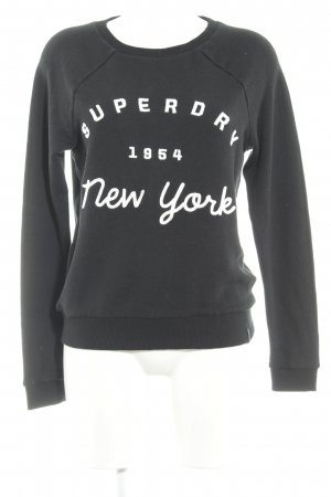 Superdry Sweatshirt schwarz Casual-Look