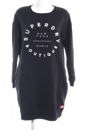 Superdry Sweatshirt schwarz-weiß Casual-Look