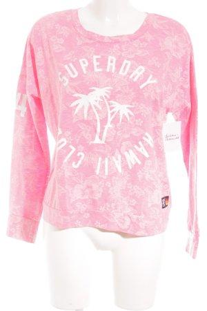 Superdry Sweatshirt weiß-neonpink Casual-Look