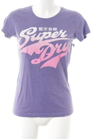 Superdry T-Shirt abstrakter Druck Casual-Look