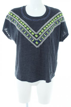 Superdry T-Shirt Aztekenmuster Casual-Look