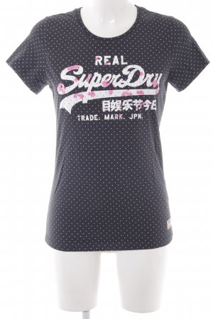 Superdry T-Shirt Blumenmuster Casual-Look