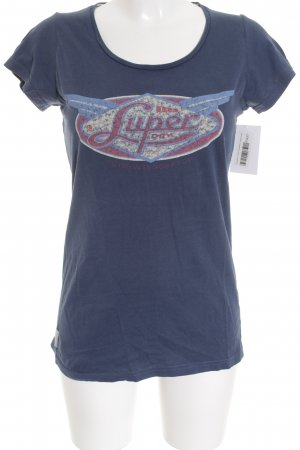 Superdry T-Shirt dunkelblau Casual-Look