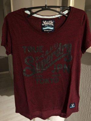 Superdry T-Shirt dunkelrot