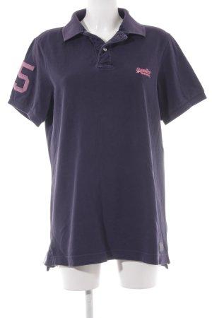 Superdry T-Shirt dunkelviolett Casual-Look