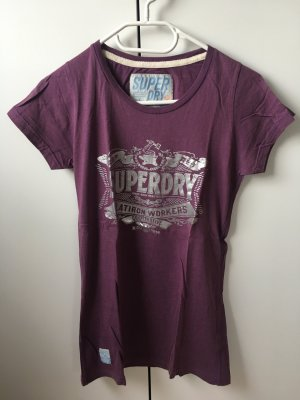 Superdry Camiseta lila grisáceo-color plata