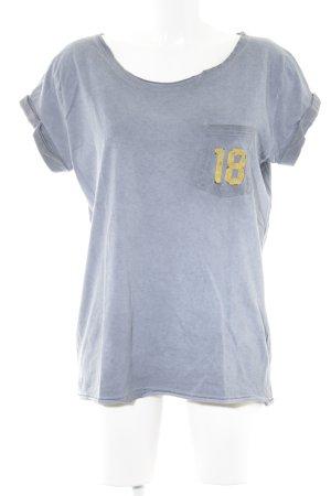 Superdry T-Shirt graublau platzierter Druck Urban-Look