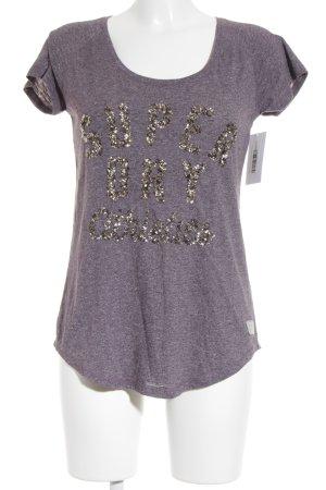 Superdry T-Shirt graulila Casual-Look