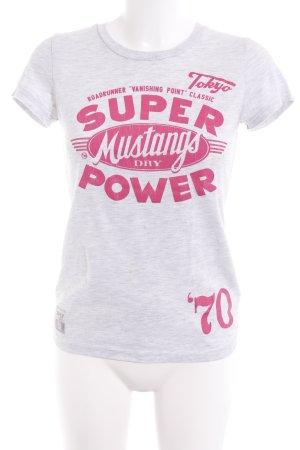 Superdry T-Shirt hellgrau Casual-Look