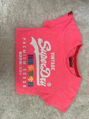 Superdry T-Shirt in Neon pink! Top Zustand!