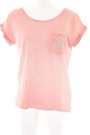 Superdry T-Shirt lachs platzierter Druck Urban-Look