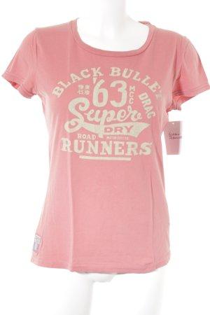 Superdry T-Shirt lachs Schriftzug gedruckt Casual-Look