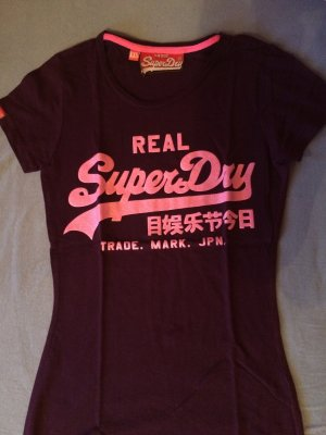 Superdry T-Shirt Lila XXS