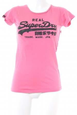 Superdry T-Shirt magenta Casual-Look