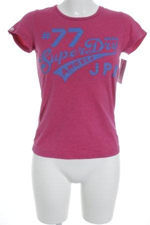 Superdry T-Shirt magenta sportlicher Stil