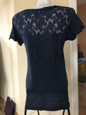 Superdry T-Shirt mit Spitze Blau Gr M