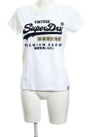 Superdry T-Shirt Motivdruck Casual-Look