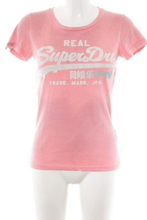 Superdry T-Shirt neonpink Farbverlauf sportlicher Stil