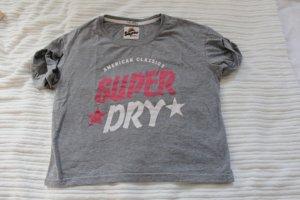 Superdry T Shirt  Pinke Aufschrift