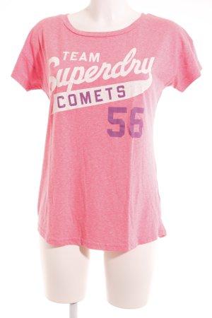 Superdry T-Shirt platzierter Druck sportlicher Stil